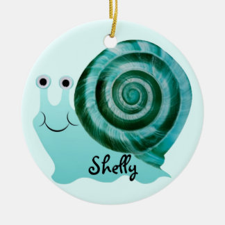Blue Snail Ceramic Ornament