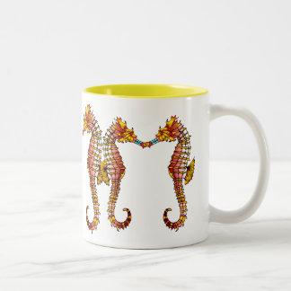 Blue Snout Seahorses Mug