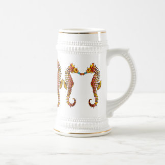 Blue Snout Seahorses Stein Coffee Mug