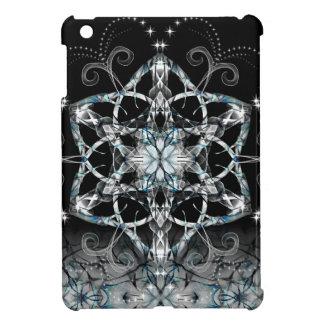 Blue Snow Flower iPad Mini Covers