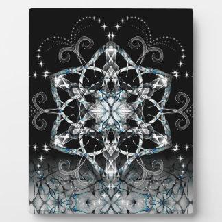 Blue Snow Flower Plaque