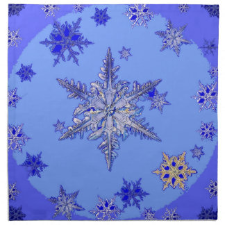 """BLUE SNOW ON SNOW"" BLUE WINTER gifts Napkin"