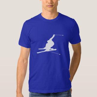 Blue Snow Skiing T-Shirt
