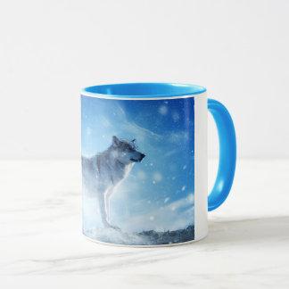 Blue Snow Wolf Combo Mug