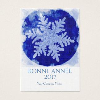 Blue snowflake - 2017 business card