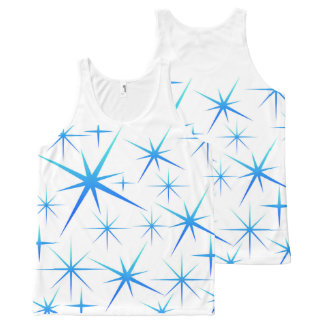 Blue snowflake All-Over print singlet