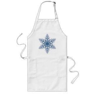Blue Snowflake Apron