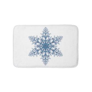Blue Snowflake Bath Mat