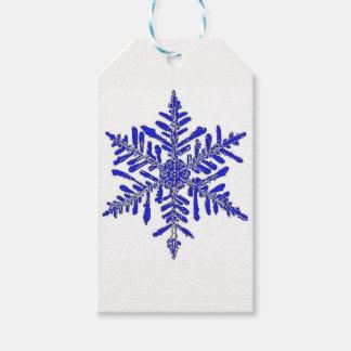 Blue Snowflake Gift Tag