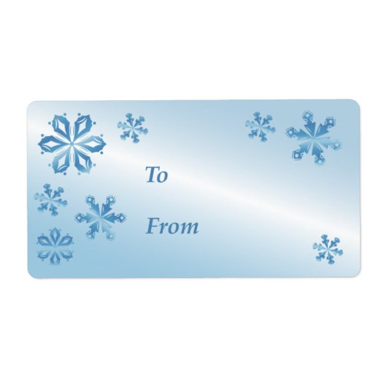 Blue Snowflake Gift Tag, Gift Label