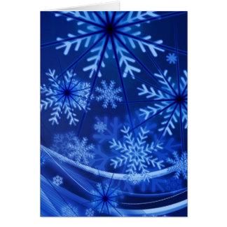 Blue Snowflake Greeting Card
