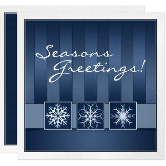 Blue Snowflake Holiday Party Invitation