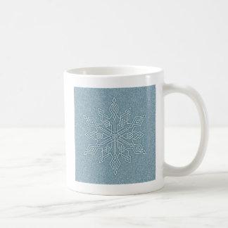 Blue Snowflake Knot Collection Mug