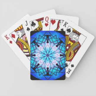 Blue Snowflake Mandala Playing Cards