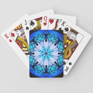 Blue Snowflake Mandala Playing Cards