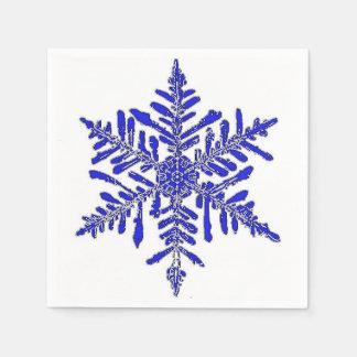 Blue Snowflake Paper Cocktail Napkin Disposable Napkin