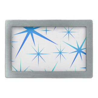 Blue snowflake pattern belt buckle