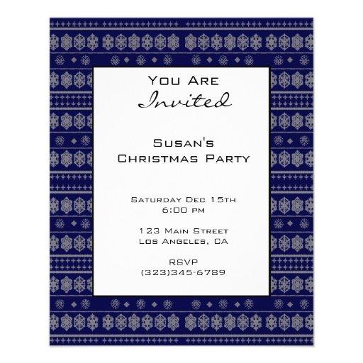 Blue Snowflake Pattern Christmas Flyer