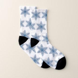 Blue Snowflake Socks 1