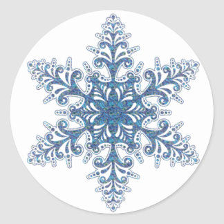 Blue Snowflake Stickers