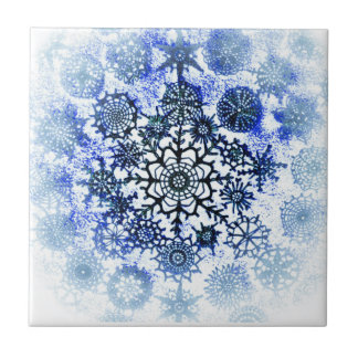 Blue Snowflake Tile