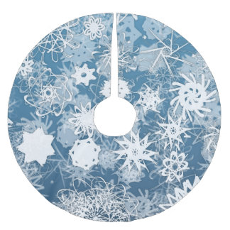 Blue Snowflake Tree Skirt