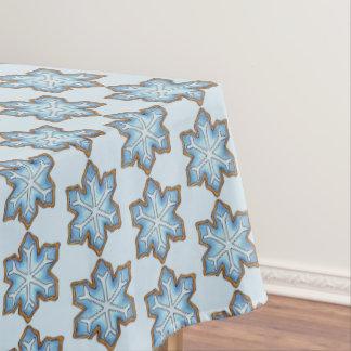 Blue Snowflake Winter Hanukkah Christmas Holiday Tablecloth