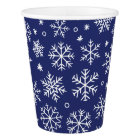 Blue Snowflakes Christmas Pattern Paper Cup