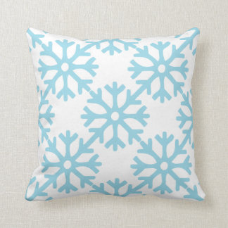 Blue Snowflakes Cushion