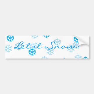 Blue Snowflakes Customize Me Bumper Sticker