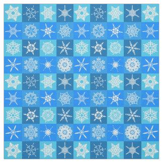 Blue Snowflakes Fabric