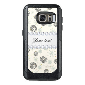 Blue Snowflakes Gold Stars Silver Diamonds OtterBox Samsung Galaxy S7 Case