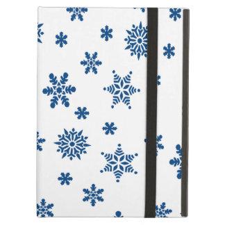 Blue Snowflakes iPad Air Cover