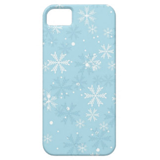 Blue Snowflakes Pattern iPhone 5 Cover