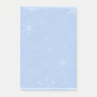 Blue Snowflakes Pattern Post-it Notes