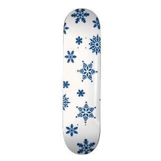 Blue Snowflakes Skate Board Deck