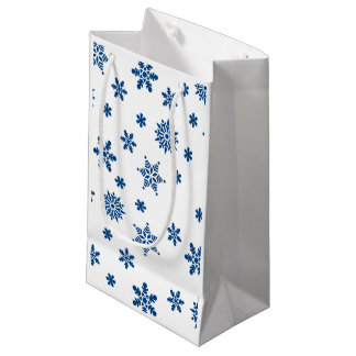 Blue Snowflakes Small Gift Bag