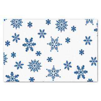 Blue Snowflakes Tissue Paper