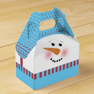 Blue Snowman Gable Box
