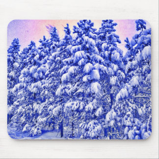 Blue Snowscape, Conifer, CO Mouse Pad