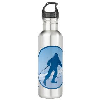 Blue Snowski Personalized 710 Ml Water Bottle