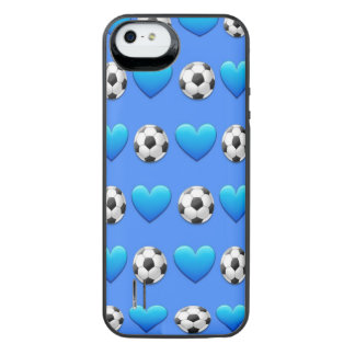 Blue Soccer Ball Emoji iPhone SE/5/5s Battery Case