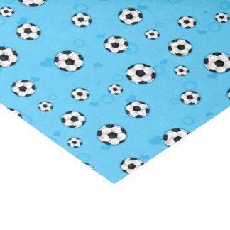 Blue Soccer Ball Pattern Tissue Paper