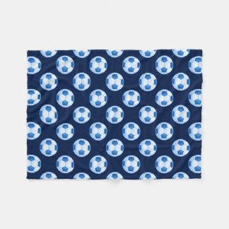 Blue Soccer | Football pattern Fleece Blanket
