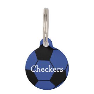 Blue Soccerball Custom Pet Tag
