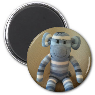Blue Sock Monkey Magnet