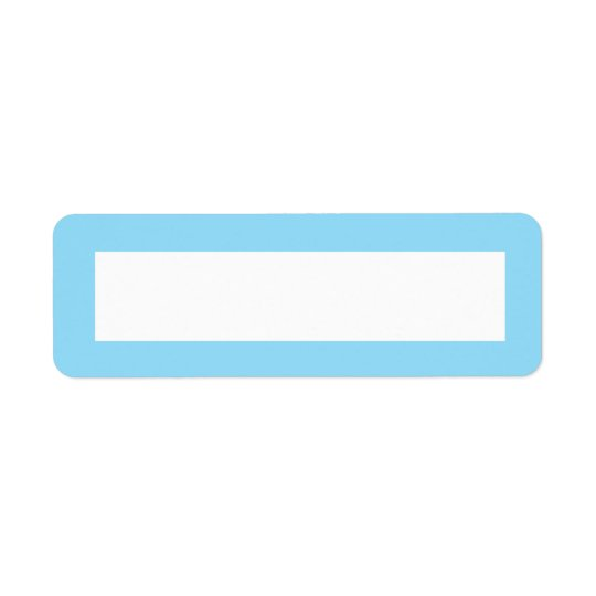 Blue solid colour border blank return address label