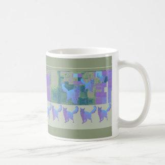 Blue Somali Cats Dancing Mug
