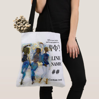 Blue Sorority HBCU Art Tote Bag