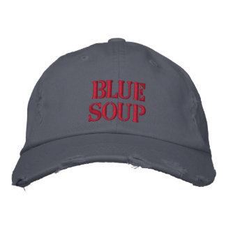 BLUE SOUP EMBROIDERED BASEBALL CAP